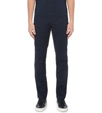 Michael Kors Slim Fit Tapered Stretch Cotton Chinos Midnight
