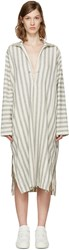 6397 Beige Summer Kaftan Dress