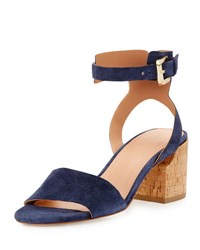 Sigerson Morrison Riva Ankle Cuff City Sandal Blue