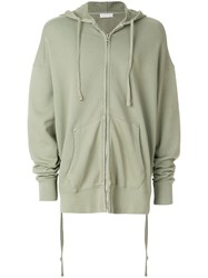 Faith Connexion Oversized Zipped Hoodie Green