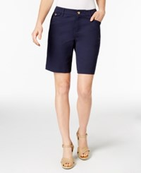Charter Club Twill Shorts Only At Macy's Intrepid Blue