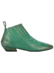 Marsell Square Toe Boots Green