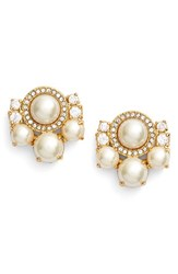Women's Kate Spade New York 'Pearls Of Wisdom' Cluster Stud Earrings
