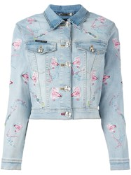 Philipp Plein Pycnopodia Denim Jacket Blue