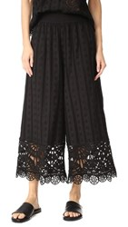 Opening Ceremony Anglaise Wide Leg Pants Black