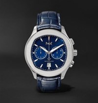 Piaget Polo S Automatic 42Mm Stainless Steel And Alligator Watch Blue