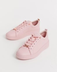 Ted Baker Pink Drench Leather Trainers
