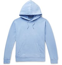 J.Crew Garment Dyed Loopback Cotton Jersey Hoodie Blue