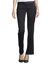 Laundry By Shelli Segal Houndstooth Check Straight Leg Pants Black Multi