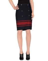 Dekker Knee Length Skirts Dark Blue