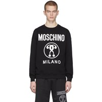 Moschino Black Double Question Mark Logo Sweatshirt