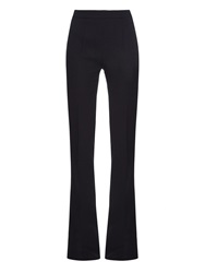 Giambattista Valli Flared Wide Leg Wool Trousers