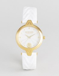 Versus By Versace Sci21 V Leather Watch In White White