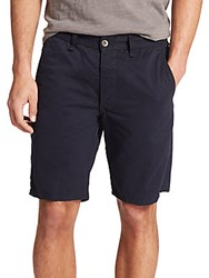Rag And Bone Standard Issue Mid Rise Shorts Navy