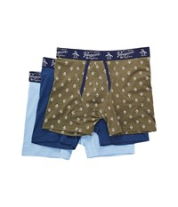 Original Penguin 3 Pack Boxer Brief Set Olive Pack Men's Underwear Multi