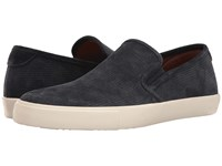 Frye Brett Perf Slip On Navy Suede Men's Slip On Shoes Blue