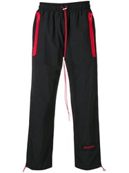 Represent Logo Patch Track Pants Black