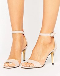 Oasis Barely There Sandals Nude Beige