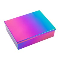 Lund London Luxe Box With Lid Oil Slick Multi