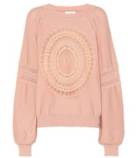 Chloe Cotton Blend Sweater Pink