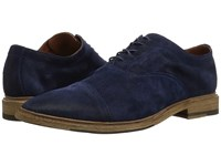 Frye Paul Bal Oxford Navy Washed Waxed Suede Shoes