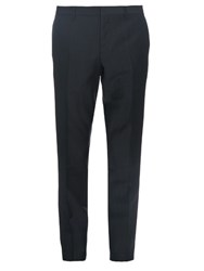 Burberry Straight Leg Mohair And Wool Blend Trousers Green