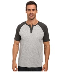 Lucky Brand Grey Label Short Sleeve Baseball Charcoal Men's Clothing Gray