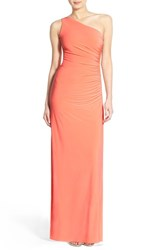 Women's Laundry By Shelli Segal Beaded Panel One Shoulder Jersey Gown