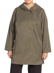 Eileen Fisher Organic Cotton Blend Reversible Coat Oregano Beige
