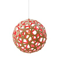 David Trubridge Coral Light Natural Red 120Cm