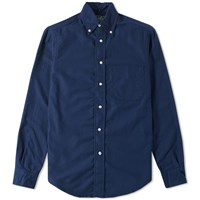 Gitman Brothers Vintage Overdyed Oxford Shirt Blue