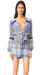 Camilla Low Front Tie Waist Playsuit All A Dream