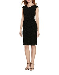 Lauren Ralph Lauren Petite Sequined Lace Dress Black Black Sequin