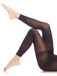 Spanx High Waist Luxe Leg Footless Tights Very Black