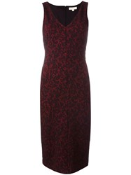 Michael Michael Kors Baroque Jacquard Fitted Dress Black
