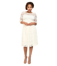 Kiyonna Aurora Lace Wedding Dress Ivory Women's Dress White