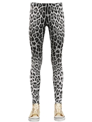 Roberto Cavalli Gym Printed Lycra Leggings Grey Black