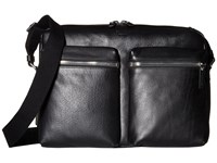 Shinola Detroit Zip Top Messenger Black