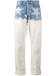 Faith Connexion Star Print Wide Leg Jeans Blue
