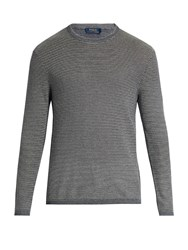 Polo Ralph Lauren Striped Cotton And Cashmere Blend Sweater Blue Stripe