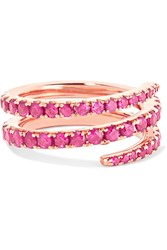 Anita Ko Coil 18 Karat Rose Gold Ruby Pinky Ring 3