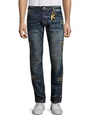 Robin's Jeans Embroidered Straight Fit D Dark