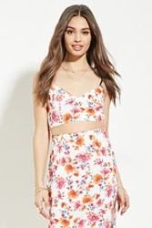 Forever 21 Floral Print Cropped Cami