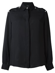 Versus Shoulder Slit Shirt Black