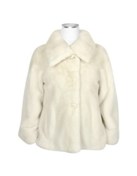 Forzieri Pearl Mink Fur Button Front Jacket White
