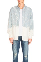 Faith Connexion Dot Loose Shirt In Blue Stripes Ombre And Tie Dye Blue Stripes Ombre And Tie Dye