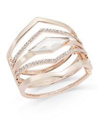 Inc International Concepts Multi Row Pointed Crystal Bangle Bracelet Only At Macy's Rose Gold