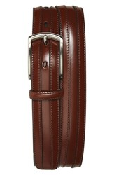 Men's Big And Tall Johnston And Murphy Calfskin Belt Chestnut