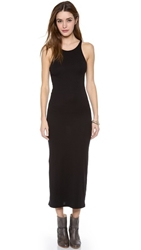 Stateside 1X1 Rib Maxi Dress Black