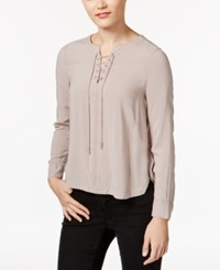 Calvin Klein Jeans Lace Up High Low Top Silver Rose